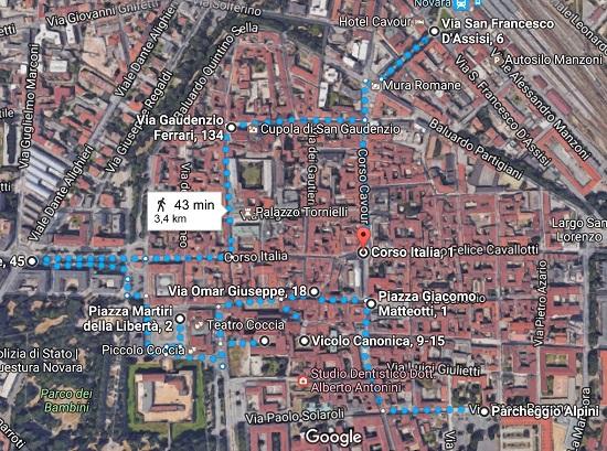 Novara Plan obilaska